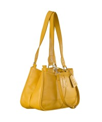 Genuine Leather Fashion Handbag eZeeBags YA818v1 - from the Maya Collection - Yellow.