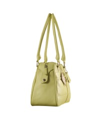 eZeeBags Maya Collection Ladies Handbag - YA825v1. Large compartment, front & rear outside pockets & lots of thoughtful features - Green.