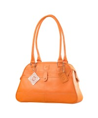 eZeeBags Maya Collection Ladies Handbag - YA825v1. Large compartment, front & rear outside pockets & lots of thoughtful features - Orange.