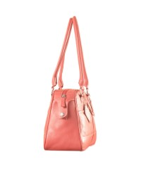 eZeeBags Maya Collection Ladies Handbag - YA825v1. Large compartment, front & rear outside pockets & lots of thoughtful features - Pink.