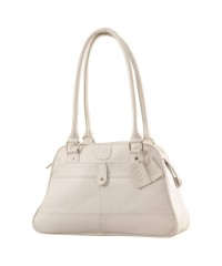 eZeeBags Maya Collection Ladies Handbag - YA825v1. Large compartment, front & rear outside pockets & lots of thoughtful features - White.