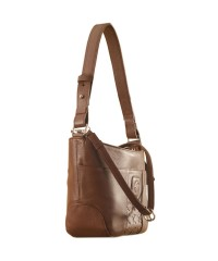 Cute & compact, just the right size for the evening outing or the weekend party. eZeeBags YA832v1 in 100% genuine leather - Brown.