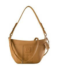 Cute & compact, just the right size for the evening outing or the weekend party. eZeeBags YA832v1 in 100% genuine leather - Tan.