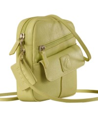 Sling it with style. Maya Teens YT840v1 genuine leather sling bags in 12 pleasant colors by eZeeBags - Green.