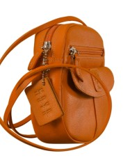 Nothing like a Maya Teen genuine leather sling bag - to enhance your style & confidence. eZeeBags YT842v1 - Orange.