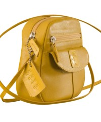 Nothing like a Maya Teen genuine leather sling bag - to enhance your style & confidence. eZeeBags YT842v1 - Yellow.