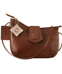 This curvy genuine leather sling bag is all about you & how you carry your style & confidence eZeeBags - YT846v1 - Burgundy.