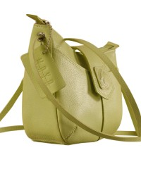 This curvy genuine leather sling bag is all about you & how you carry your style & confidence eZeeBags - YT846v1 - Green.