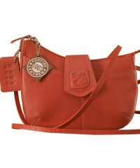 This curvy genuine leather sling bag is all about you & how you carry your style & confidence eZeeBags - YT846v1 - Pink.
