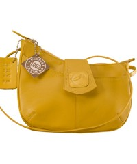 This curvy genuine leather sling bag is all about you & how you carry your style & confidence eZeeBags - YT846v1 - Yellow.