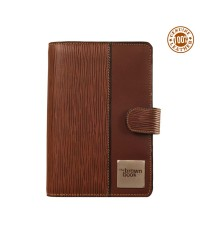 "Genuine leather 6 ring binder planners diary ,,the brown book"" - MI Series - Brown Color."