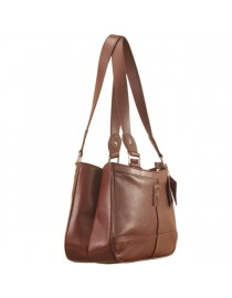 Genuine Leather Fashion Handbag eZeeBags YA818v1 - from the Maya Collection - Burgundy.