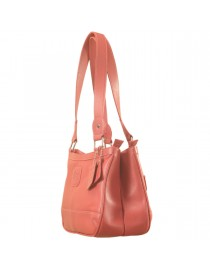 Genuine Leather Fashion Handbag eZeeBags YA818v1 - from the Maya Collection - Pink.