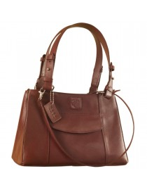 Dark, tall & handsome, Maya Collection YA824v1 by eZeeBags ladies leather handbag - stands tall in style & function - Burgundy.