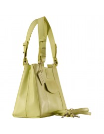 Dark, tall & handsome, Maya Collection YA824v1 by eZeeBags ladies leather handbag - stands tall in style & function - Green.