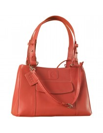 Dark, tall & handsome, Maya Collection YA824v1 by eZeeBags ladies leather handbag - stands tall in style & function - Pink.