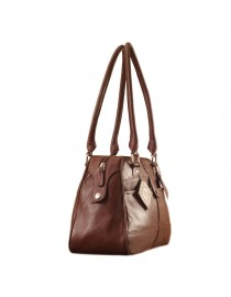 eZeeBags Maya Collection Ladies Handbag - YA825v1. Large compartment, front & rear outside pockets & lots of thoughtful features - Burgundy.