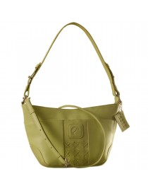 Cute & compact, just the right size for the evening outing or the weekend party. eZeeBags YA832v1 in 100% genuine leather - Green.