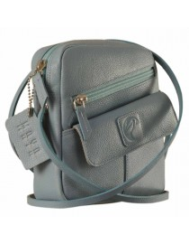 Sling it with style. Maya Teens YT840v1 genuine leather sling bags in 12 pleasant colors by eZeeBags - Blue.