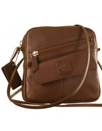 Sling it with style. Maya Teens YT840v1 genuine leather sling bags in 12 pleasant colors by eZeeBags - Brown.