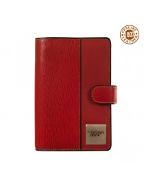 "Compact planner diaries ,,the brown book""  MI Series – beautiful red genuine leather."