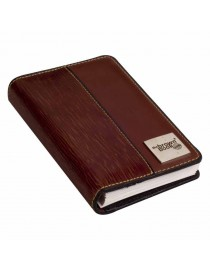 "Neat & compact pure leather planner diary ,,the brown book"" MX Series Brown."
